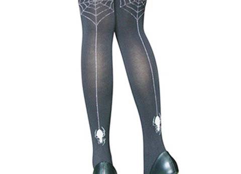 Spider Web Backseam Thigh Highs