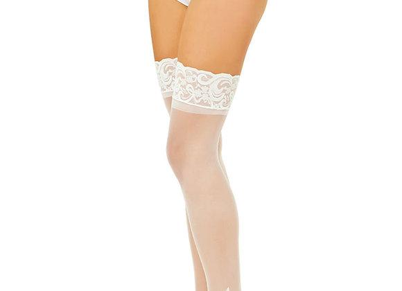 thigh high stayups white