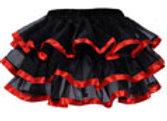 Tiered chiffon skirt Red
