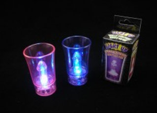 LIGHT UP WILLY SURPRISE SHOT GLASS