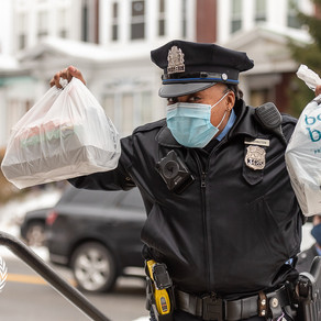 Philadelphia Police Officer joins fight so no cancer patient goes hungry.