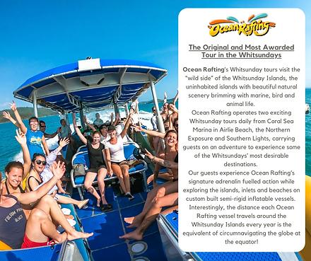 Ocean Rafting Website advertising March