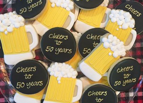 """Cheers To You"" Decorated Cookies"