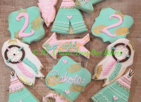 """Boho"" Decorated Cookies"