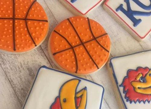 """KU Jayhawk"" Decorated Cookies"