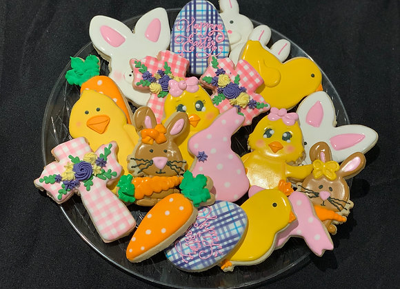 Easter-Themed Decorated Cookies