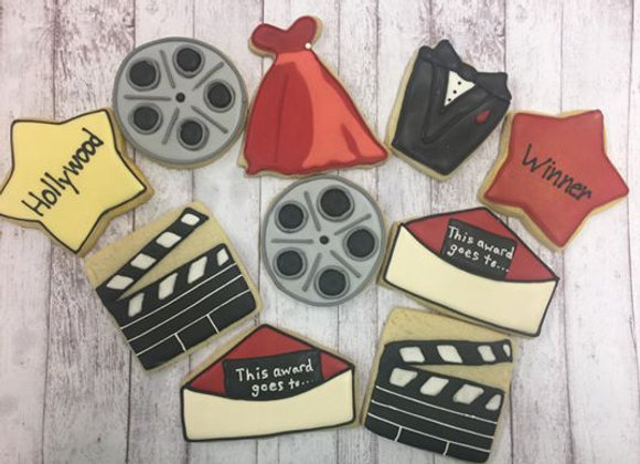 """Hollywood"" Decorated Cookies"