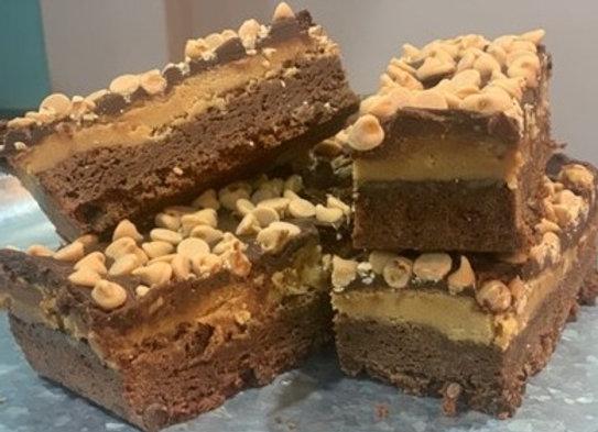 Peanut Butter Brownies - Dozen