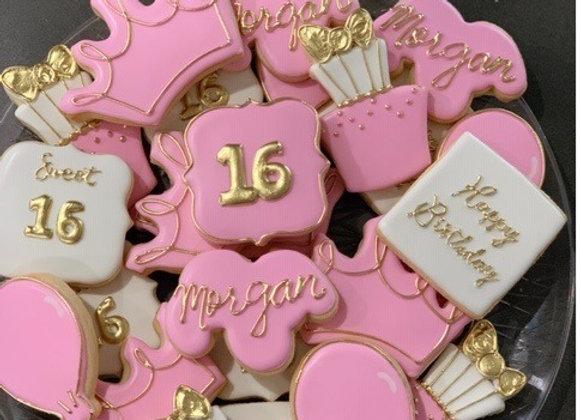 Birthday Princess Decorated Cookies