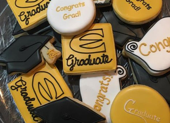 """Graduation"" Decorated Cookies"