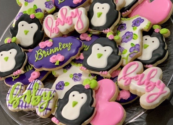 Penguins Decorated Cookies