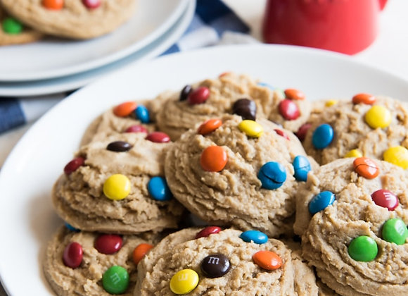 "Jumbo M&M Cookies 4""-5"""