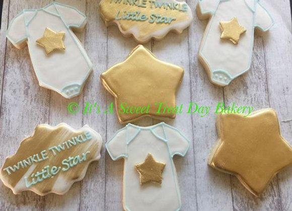 """Twinkle Twinkle Little Baby"" Decorated Cookies"