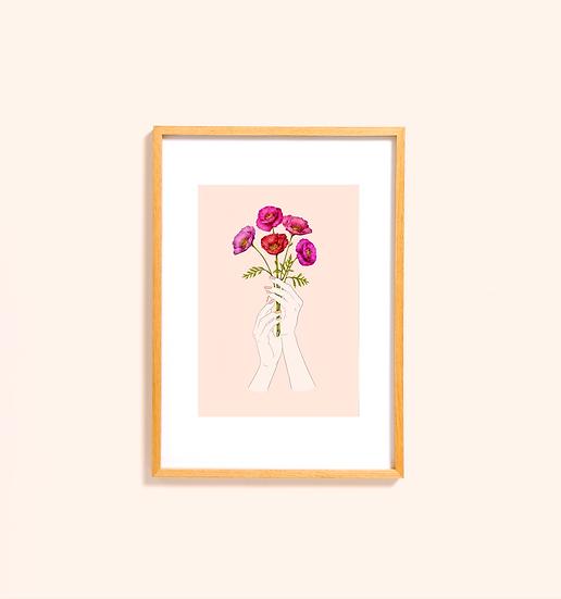 Posy [blush] Print