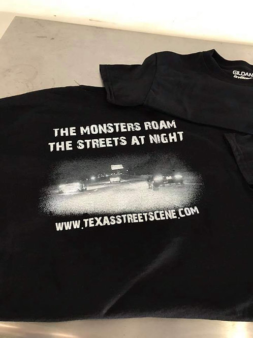 The Monsters roam the streets at Night (T-shirt)