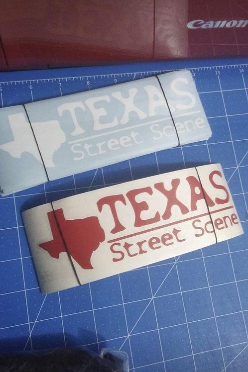 Texas Street Scene stickers (new design)