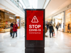 Coronavirus Covid 19 stop signage on dig
