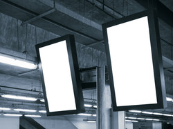 Blank mock up Light Box Template Vertica