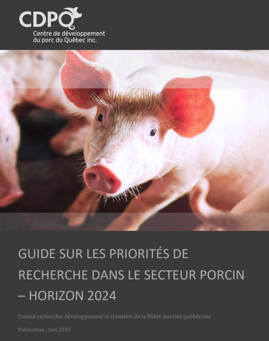 GUIDE SUR LES PRIORITÉS DE RECHERCHE DANS LE SECTEUR PORCIN -  HORIZON 2024