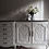 Thumbnail: Large French Louis XV Sideboard in grey/beige with dark wooden top