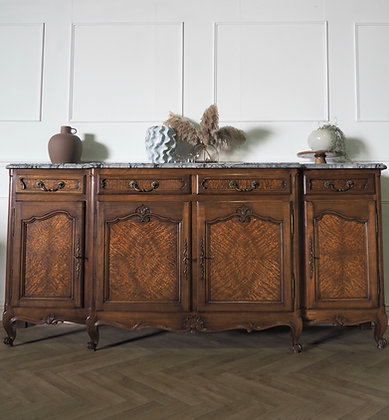 Large Antique French Louis XV sideboard with marble top