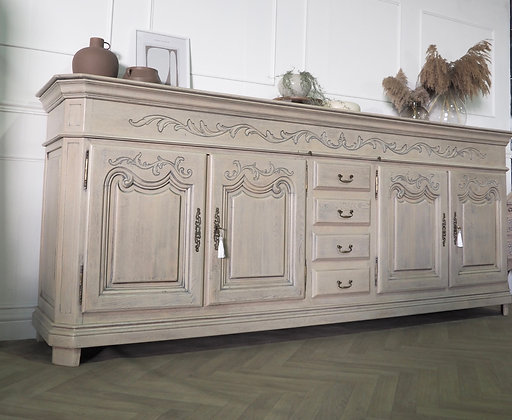 Extra large chunky solid oak French antique sideboard