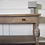 Thumbnail: Large solid mahogany vintage console table in limed oak