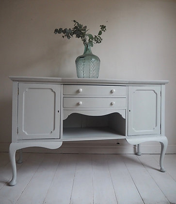 French style sideboard painted in soft grey