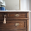 Thumbnail: Antique solid mahogany french chest of drawers with white marble top