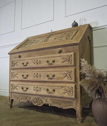 Large French Louis XV Vintage Writing bureau Raw Wood