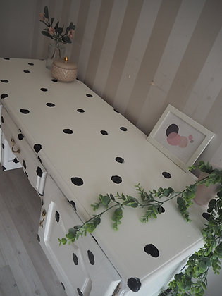 Dalmatian print French style desk