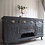 Thumbnail: Large heavily carved Victorian sideboard in ash black / grey