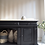 Thumbnail: Large modern solid oak sideboard in black with wooden top