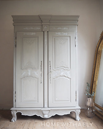 Large French armoire double wardrobe