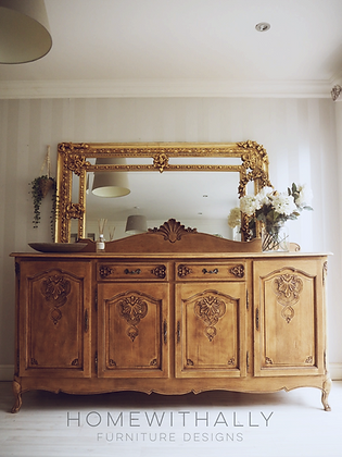 Large French Louis XV Oak Sideboard in Raw Wood
