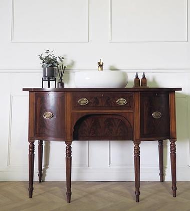 Antique Mahogany Washstand Vanity sink Bathroom Unit