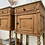 Thumbnail: Pair of French oak marble top bedside cabinets