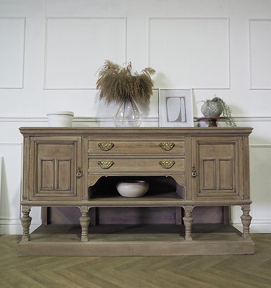 Large antique sideboard in raw wood