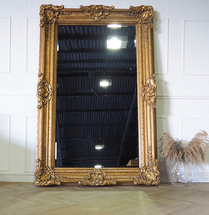Extra large Ornate Freestanding Floor Mirror Gold