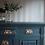 Thumbnail: Large heavy Victorian sideboard painted dark grey