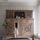 Thumbnail: Large French antique dresser cabinet in raw wood limed oak heavily carved