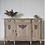 Thumbnail: Large Antique sideboard in washed wood limed oak