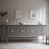 Thumbnail: Large modern grey / beige taupe sideboard marble handles