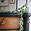 Thumbnail: Large Victorian mahogany drawers black and wood