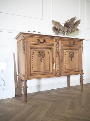 French antique cabinet washstand console sideboard with marble top