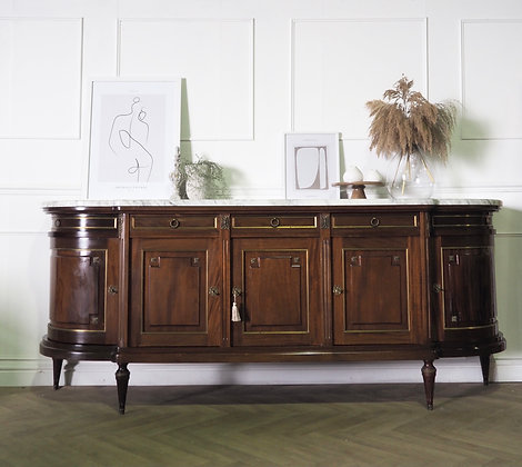 Large Mahogany French Louis XVI Style Vintage Sideboard