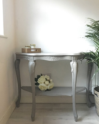French style half moon table