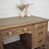 Thumbnail: Large antique oak desk in raw wood limed oak