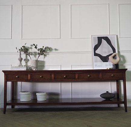 Large 2.2M Console Table in Mahogany
