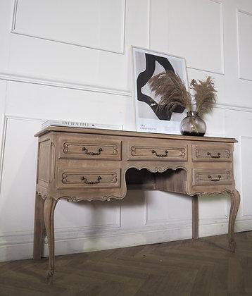 French Louis XV vintage Oak desk